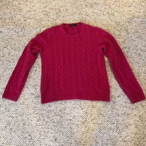 Brooks Brothers Pink Cashmere Sweater